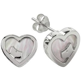 Radley London Heart Shape Stone Set Pearl Stud Earrings