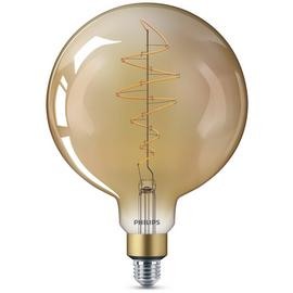 Philips LED Filament E27 6.5W (40W) Dim Giant Bulb + Cord
