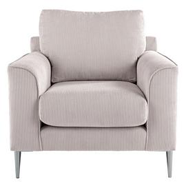 Argos Home Beckett Fabric Armchair - Silver