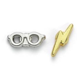 Harry Potter Lightning Bolt and Glasses Stud Earrings