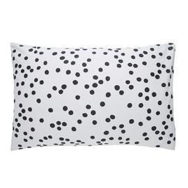 Habitat Penny Cotton Standard Pillowcase Pair - Black