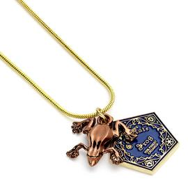 Harry Potter Gold Plated Chocolate Frog Necklace