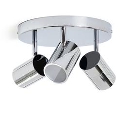 Habitat Nancy 3 Light Bathroom Spotlight - Chrome