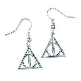 Harry Potter Silver Plated Deathly Hallows Drop Earring