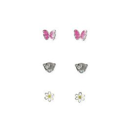 Me to You Kids Silver Coloured Spring Stud Earrings Set of 3