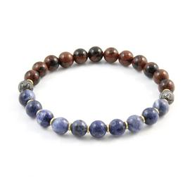 Revere Men's Stainless Steel Stretch Beaded Bracelet