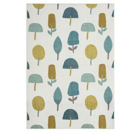 Habitat Statement Trees Rug - 120x170cm - Multicoloured