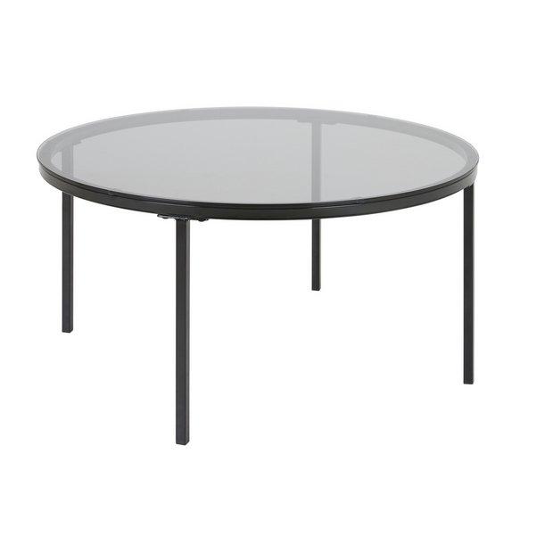 Buy Habitat Maxim Black Smoked Glass Coffee Table Coffee Tables Habitat