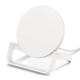 Belkin 10W Qi Wireless Charger Stand with QC3 Plug - White