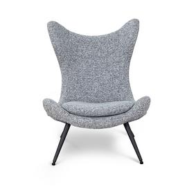 Habitat Robbie Angel Wing Fabric Accent Chair - Grey