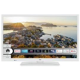 Bush 24 Inch Smart HD Ready HDR LED TV / DVD Combi - White