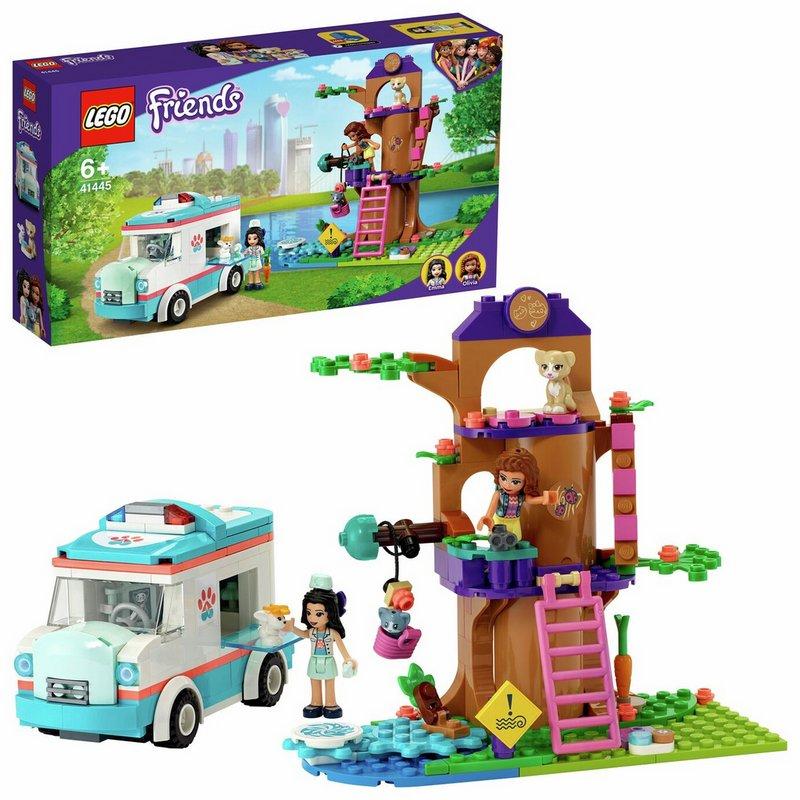 LEGO Friends Vet Clinic Animal Ambulance Toy Car 41445 from Argos