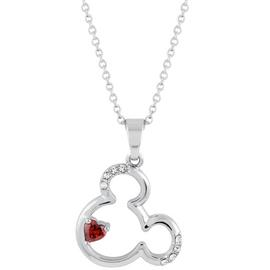 Disney Mickey Mouse Heart Carded Pendant Necklace