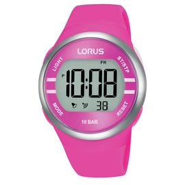 Lorus Digital Pink Silicone Strap Watch