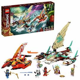 LEGO NINJAGO Catamaran Boat Sea Battle Building Set 71748