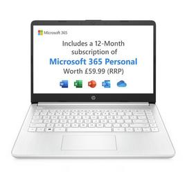 HP Stream 14 inch AMD 3020e 4GB 64GB Cloudbook - White