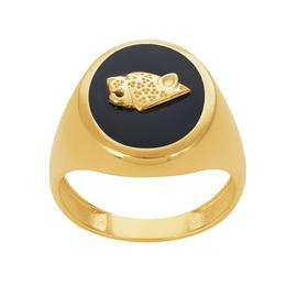 Revere 9ct Gold Plated Sterling Silver Jag Signet Ring