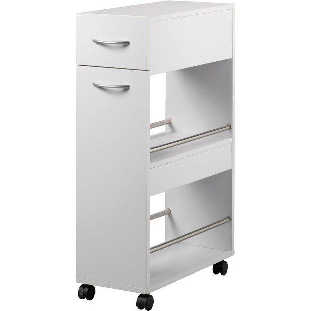 Kitchen Storage Trolleys: Buy HOME Slim Kitchen Trolley With Drawer At Argos.co.uk