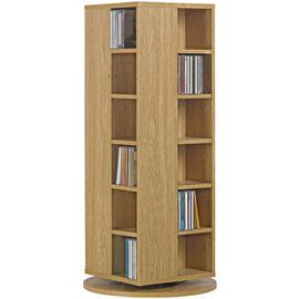 Argos Home Twister CD and DVD Media Storage - Oak Effect