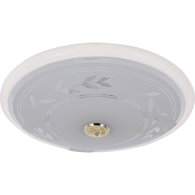 Ceiling Lights At Argos : Buy home circular fluorescent etch flush ceiling fitting