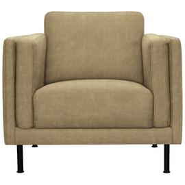Argos Home Hugo Faux Leather Armchair - Light Tan