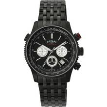 Rotary Men's Black Chronograph Bracelet Watch