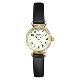 Limit Ladies Glow Dial Gold Plated Strap Watch