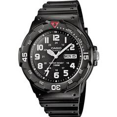 Casio Men s Black Resin Strap Rotating Count Up Bezel Watch 45152ccda7e6