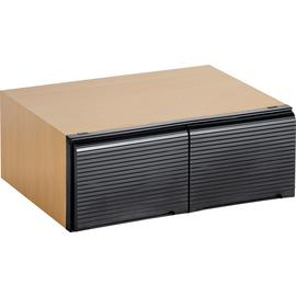 Argos Home Beech Effect & Black Stackable DVD Media Storage