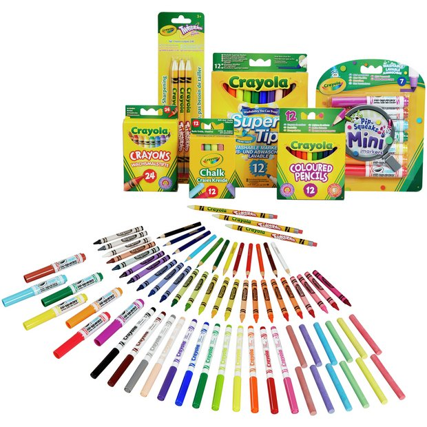 Buy Crayola 70 Piece Stationery Set Painting Drawing And Colouring
