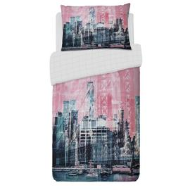 Argos Home Pink New York Skyline Bedding Set - Single