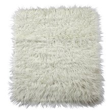 HOME Faux Flokati Rug - 75x100cm - Natural