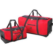 Go Explore 2 Piece Wheeled Holdall Set - Red