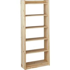 Argos Home Unfinished 6 Shelf Solid Pine Storage Unit