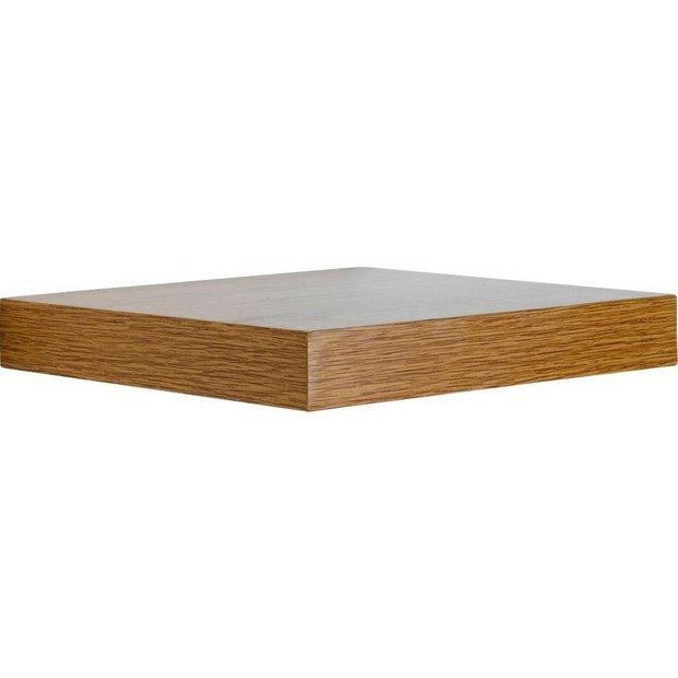 buy home pair of corner floating shelves oak effect at. Black Bedroom Furniture Sets. Home Design Ideas