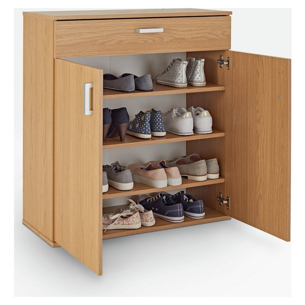Buy Argos Home Venetia Shoe Storage Cabinet Oak Effect Shoe Storage Argos
