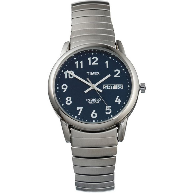 8f8b22af7 Timex Men's Silver Stainless Steel Classic Expander Watch907/2998