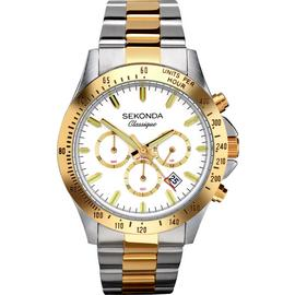 Sekonda Classique Men's Two Tone Steel Chronograph Watch