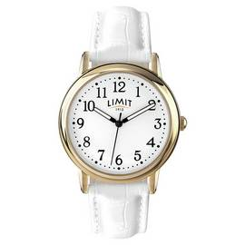 Limit Ladies' Quartz Gold Plated White Strap Watch