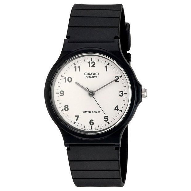 Buy Casio Unisex Black Resin Strap Watch Men S Watches Argos