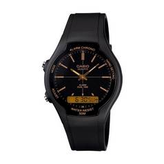 Casio Men's Black Resin Strap Alarm And Dual Time Watch