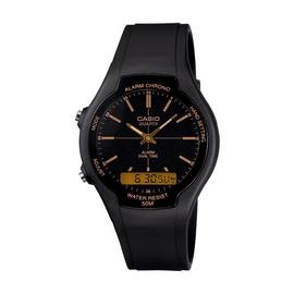 Casio Men's Alarm And Dual Time Black Resin Strap Watch