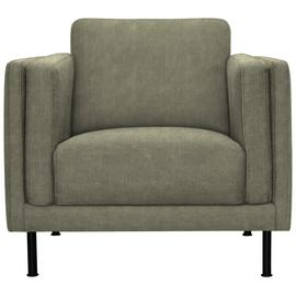 Argos Home Hugo Faux Leather Armchair - Grey