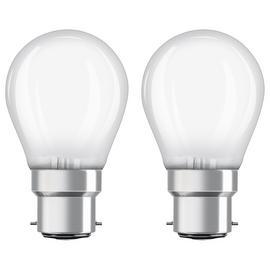 Osram 5W LED Classic BC Globe Bulb - Twin Pack