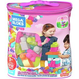 Mega Bloks 60 Piece First Builders Big Building Bag - Pink