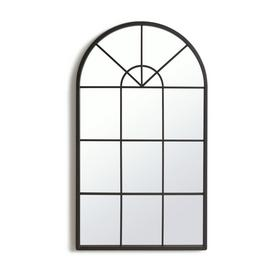 Habitat Window Pane Mirror - Black