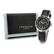 Identity London Black Sports Watch Set