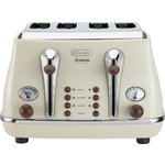 more details on De'Longhi 4 Slice Vintage Icona Toaster - Cream.
