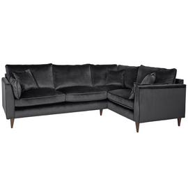 Argos Home Hector Right Corner Velvet Sofa - Grey