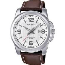 Casio Men's Brown Genuine Leather Strap Watch